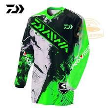 2020 daiwa roupas de verão esportes pesca tshirt respirável ao ar livre correndo respirável anti-uv pesca camiseta ciclismo