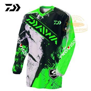 2020 odzież Daiwa sporty letnie wędkarstwo Tshirt oddychająca Outdoor Running oddychająca koszulka wędkarska anty-uv kolarstwo mężczyźni Top tanie i dobre opinie
