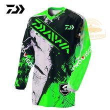 2020 odzież Daiwa sporty letnie wędkarstwo Tshirt oddychająca Outdoor Running oddychająca koszulka wędkarska anty-uv kolarstwo mężczyźni Top tanie tanio