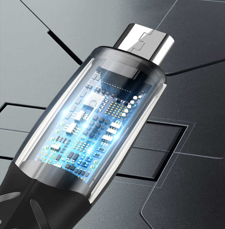 Micro USB ประเภท C สาย LED 1M Fast Charger สำหรับ iPhone สายชาร์จสำหรับ Xiaomi Samsung Huawei Android 5A ชาร์จข้อมูล