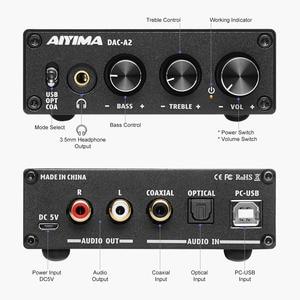 Image 2 - Aiyima Audio Decoder Fiber Coax Usb Decoder Bass Treble Aanpassing Dac Met Hoofdtelefoon Versterker Voor Thuis Geluid Theater