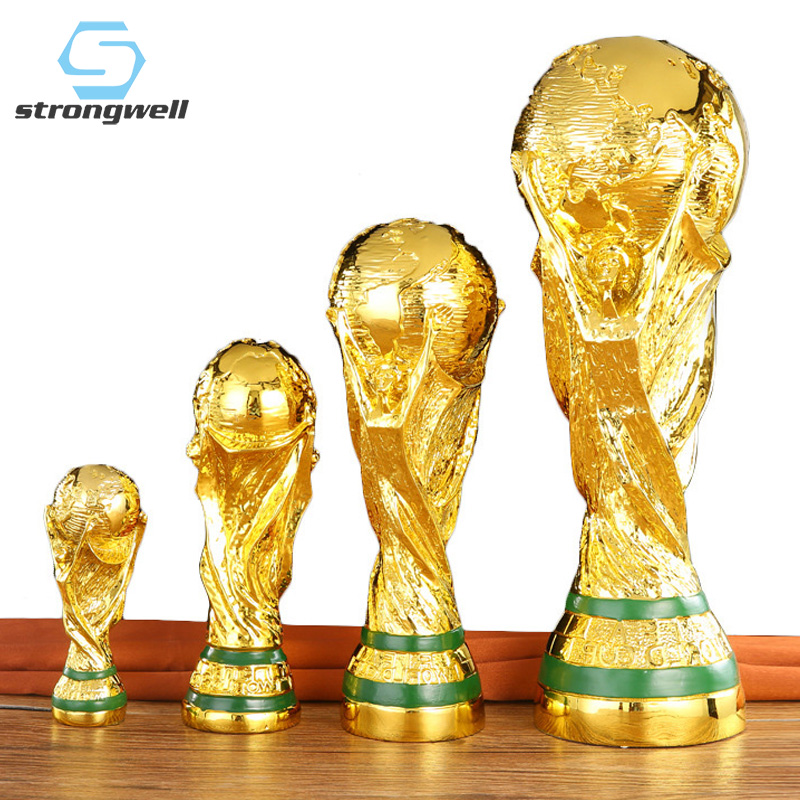 Strongwell Football Award Trophy Sculpture World Hercules Cup Resin Crafts Home Decoration Accessories Modern Boy Birthday Gift