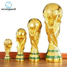 Strongwell prêmio de futebol troféu escultura mundial hercules cup resina artesanato decoração para casa acessórios moderno menino presente aniversário