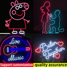 Personalized Custom Neon Sign Light  Flex Led Transparent Acrylic Creative Home Bar  Wedding Wall Art  Decor For House Rooms Bed