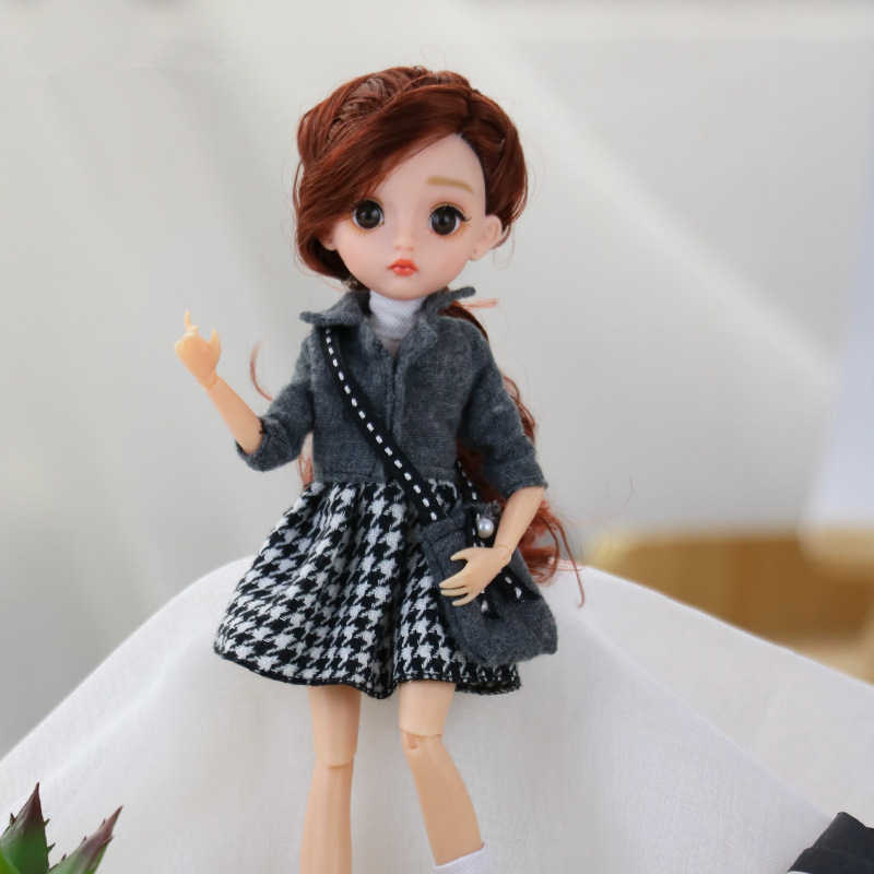 28Cm 1/6 Pop Met Mode Kleding Stijl Dress Up Baby Poppen Multi Joint Beweegbare Body