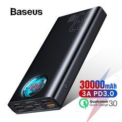 Baseus power Bank 30000 мАч type-C PD 3,0 быстрое зарядное устройство для iPhone Quick Charge 3,0 внешний аккумулятор power bank для Xiaomi samsung