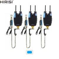 Alarmas de pesca de carpa swingers set alarmas de pesca impermeables con barra de enganche y caída iluminada swingers de pesca LED azul