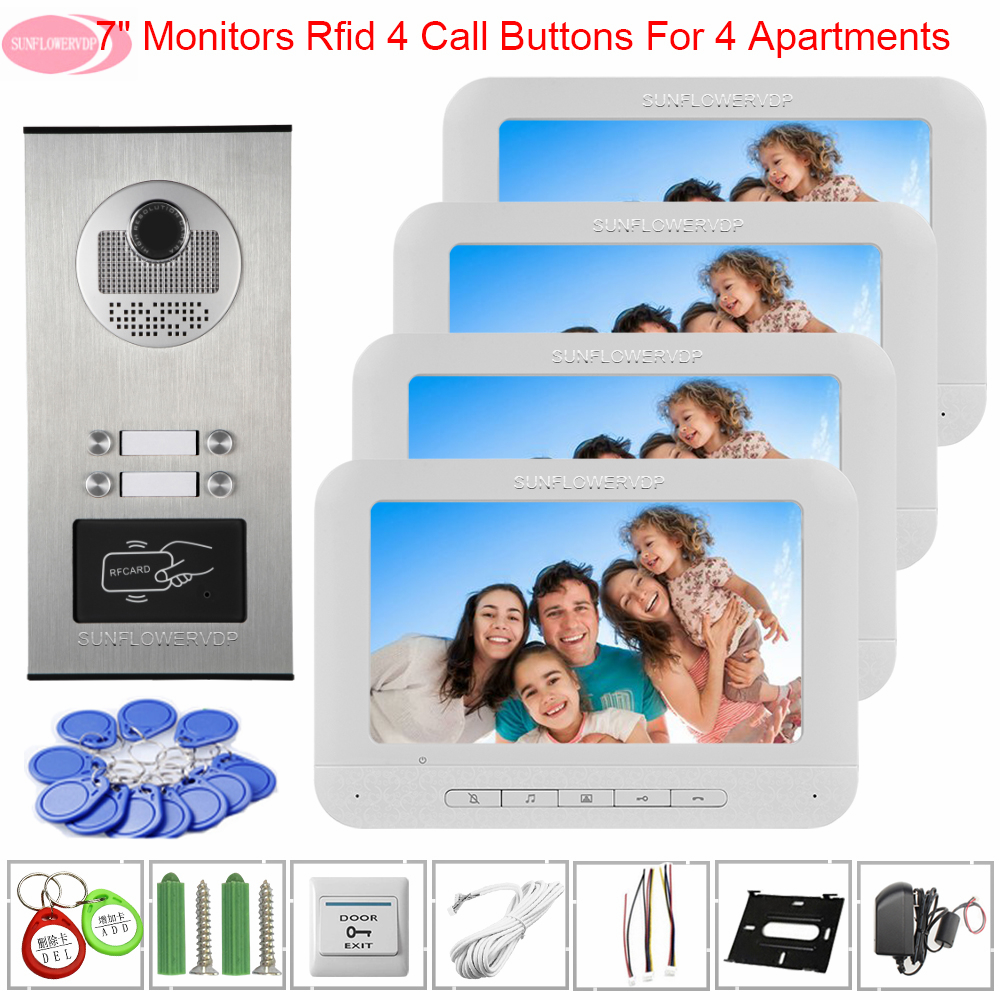 Doorbell With Camera And Screen Access Control Video Intercom For Apartment 7inch Video Intercom Video Doorphone Intercom Camera