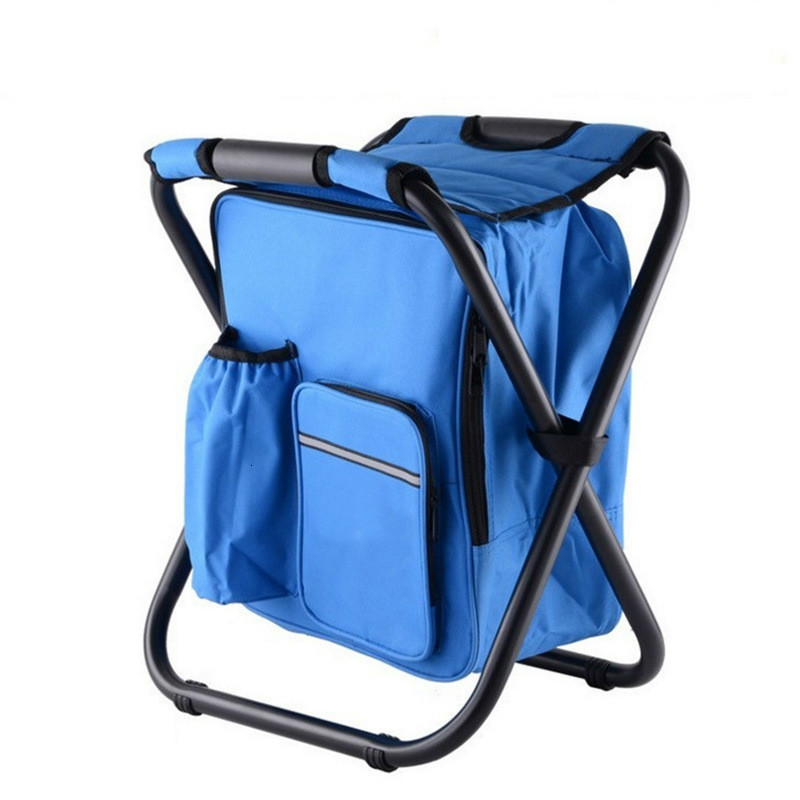 Outdoor Folding Camping Fishing Chair Stool Portable Backpack Cooler Insulated Picnic Bag Hiking Seat Table Bags Furniture