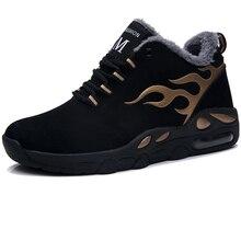 Men Winter Warm Fashion Sneakers Air Men Casual Shoes Footwear Male Snow Walking Shoes Outdoor Mens Flats Shoes Rubber Black Man цены онлайн
