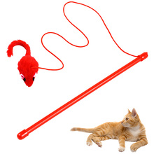 Cat-Stick Plush Playing-Toys Teaser-Toy Pet-Supplies Funny Kitten Red for Catcher False-Mouse