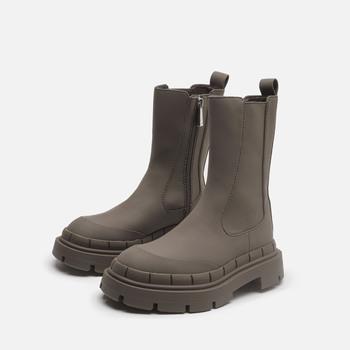 2021 oryginalne skórzane buty damskie luksusowe marki buty na platformie kobiety Chunky Heel Chelsea Boots kobiety botki zimowe buty tanie i dobre opinie BLWBYL inny SZTYBLETY CN (pochodzenie) Zima ANKLE Płytkie Stałe Adult Mikrofibra okrągły nosek latex RUBBER Niska (1 cm-3 cm)