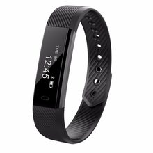 ID115 Smart Bracelet Fitness Tracker Passometer Sleep Monitor Track Smart Band Watch Alarm Clock Step Counter Fitness(China)