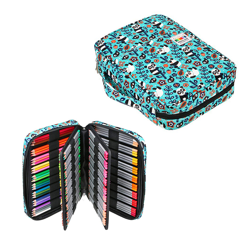 Big 166/220 Holes Pencil Case For School Office Pen Box Cute Girls Boys Pencilcase Large Storage Cartridge Bag Stationery Penal