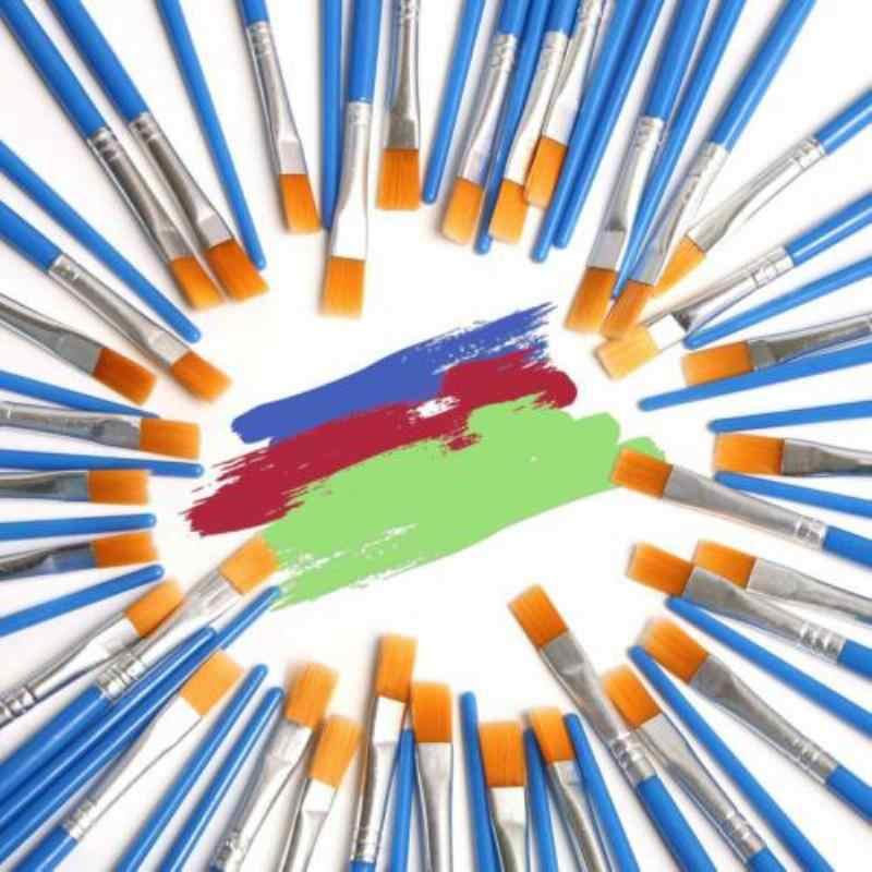 32 Cái/bộ Nylon Chất Lượng Cao Tóc Dầu Cọ Sơn Bộ Phẳng Bàn Chải Acrylic Tự Làm Bút Vẽ 17 Cm Cho Nghệ Sĩ họa Sĩ Người Mới Bắt Đầu