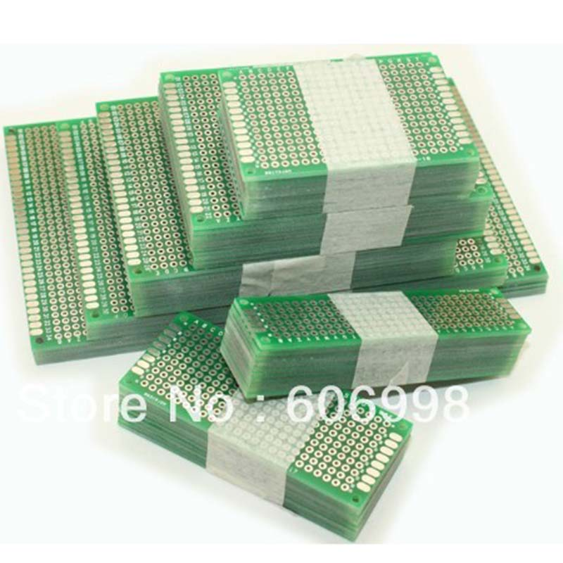 20pcs/lot Double Side Prototype Diy Universal Printed Circuit PCB Board Protoboard With The Size 5x7 4x6 3x7 2x8cm  For Arduino