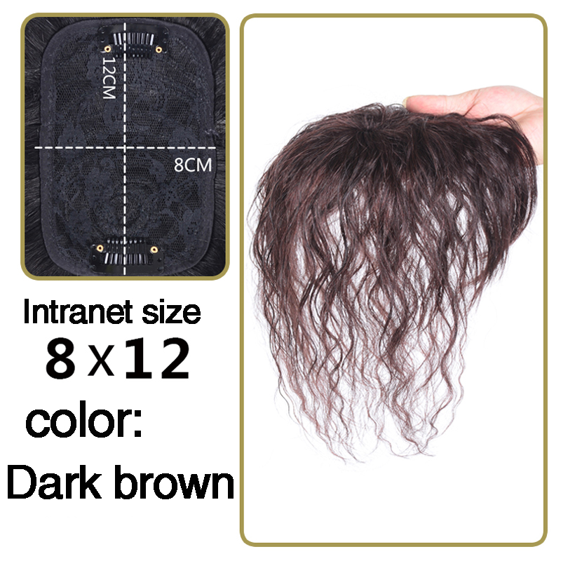Brazilian Topper Hairpiece Women Curly Corn Beard Natural Hair Clip Ins Hair Topper Clip In Hair Extensions Remy Human Hair Pure