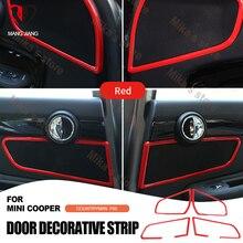 ABS Auto interieur auto accessoires spreken stereo frame trim cirkel sticker voor mini cooper F60 countryman auto styling decoarion