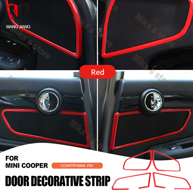 ABS Car interior auto accessories speak stereo frame trim circle sticker for mini cooper F60 countryman car styling decoarion
