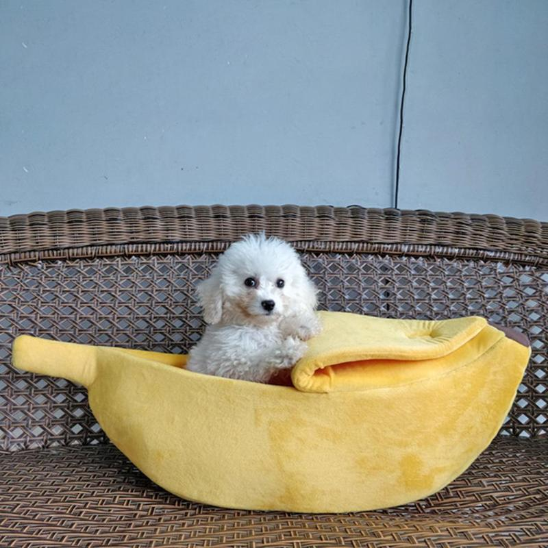 The Banana Dog Bed | Cute Dog Beds | Cute Puppy Beds