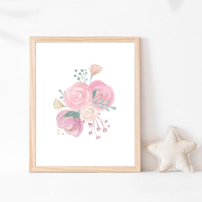 Pink Flowers Canvas Art Prints