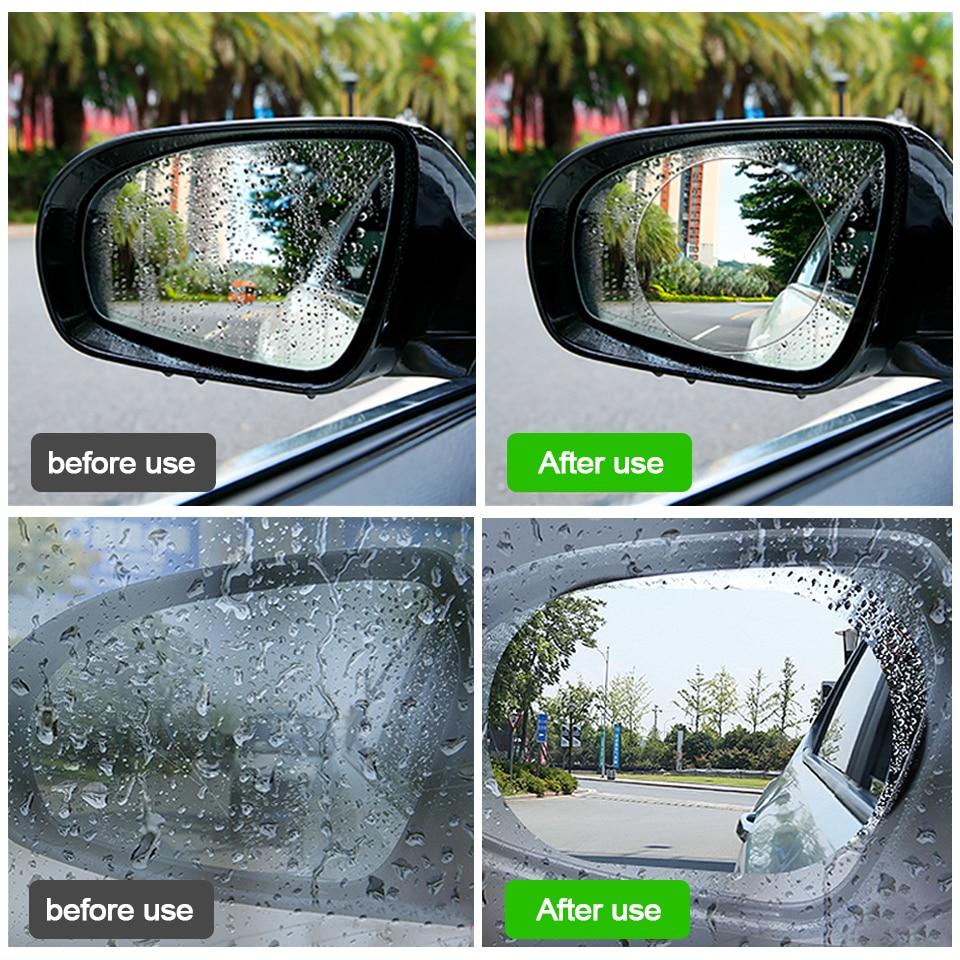 2Pcs *Car Rearview Mirror Sticker Rainproof Protective Film Anti-fog Rain Shield
