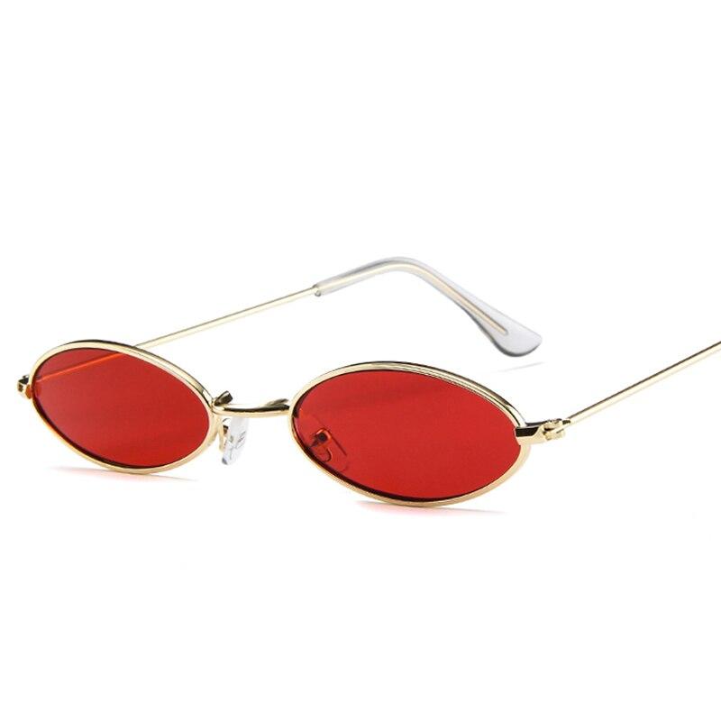 Steampunk Sunglasses Fashionable Elliptical Punk Street Shot Small Frame Personality Gothic Glasses for Men Women