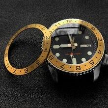 Sloping Steel Bezel insert 38*30.6mm For SEIKO SKX007 SRPD watch bezels parts