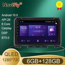NaviFly 7862 QLED pantalla 1280*720 Android 10 para Suzuki Jimny JB64 2018 - 2020 auto Radio Multimedia Video Player navegación GPS