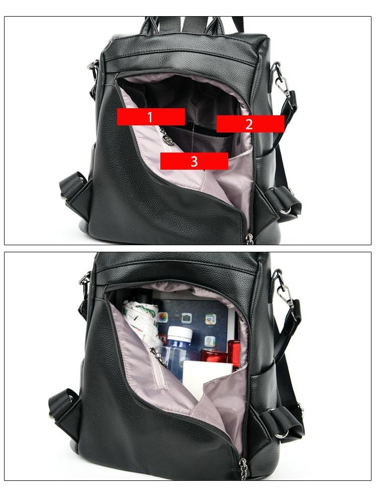 Ba lô thời trang - balo da mềm cho sinh viên - học sinh - STX212