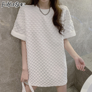 FORYUNSHES Casual Short Sleeve Oversize T Shirt Women 2021 Summer White Korean Fashion Tops Vintage Clothes Best Friend Couple T 2