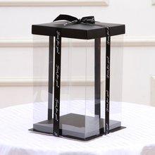 30,5x30,5x40 см прозрачная пустая Подарочная коробка для искусственного плюшевого мишки розы цветок подарочная коробка для женщин плюшевый медведь кролик подарок