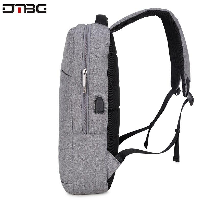 "Image 4 - DTBG Gray Backpack 15.6"" Laptop Back Pack Men Women Fashion Slim Travel Bags Large Capacity Waterproof College School Mochilar-in Backpacks from Luggage & Bags"