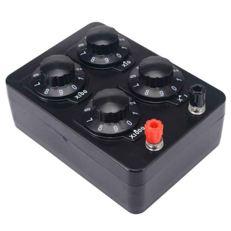 1pc 0-9999 ohm simples resistência caixa de precisão resistor variável década instrumento de ensino medidores ferramenta
