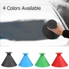Deicing-Tool Window-Cone-Scraper Snow-Removal Ice-Glass Scraping Round 1PC Windshield-Funnel