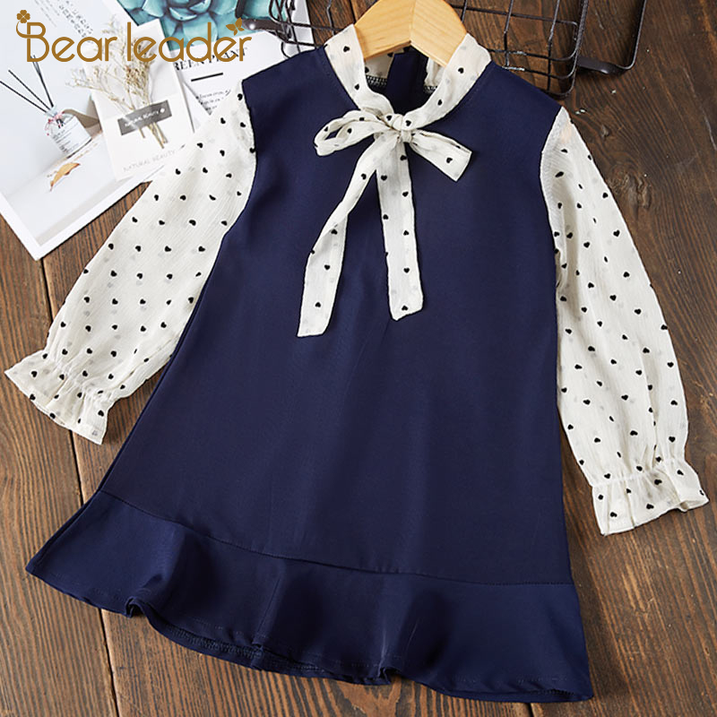 Hfa15f2c48f254d72b086ad7b4c03479ei Bear Leader Girls Dress 2019 New Autumn Casual Ruffles A-Line Striped Full Sleeve Kids Dress For 3T-7T