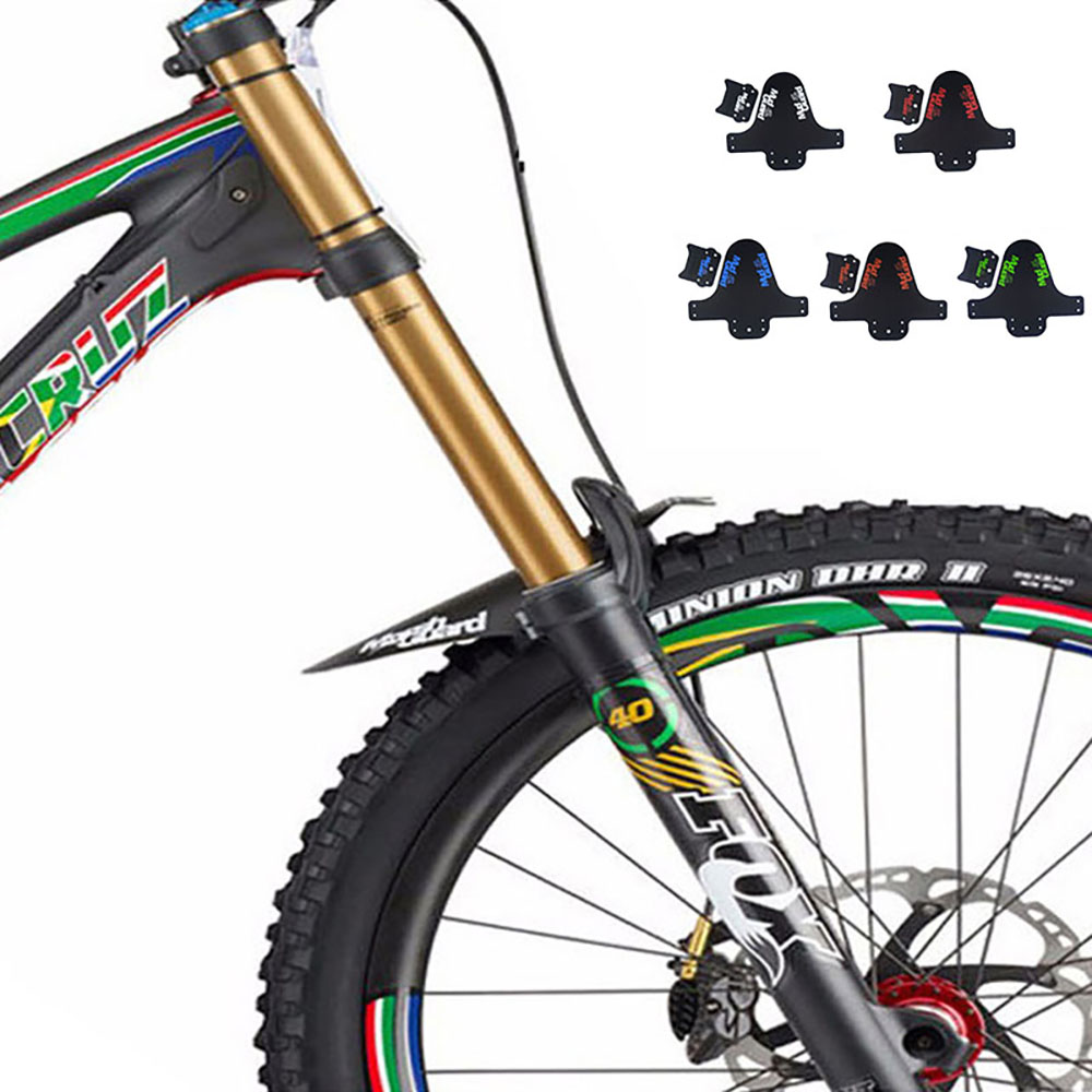 Front//Rear Wheel Fenders Carbon Fiber Mountain Bike Bicycle Cycling Mudguard-!
