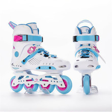 JK GTR Slalom Inline Skates Adult Child Roller Skating Shoes Sliding Free Skating Patines FSK Brake Street Road Rollerblade(China)