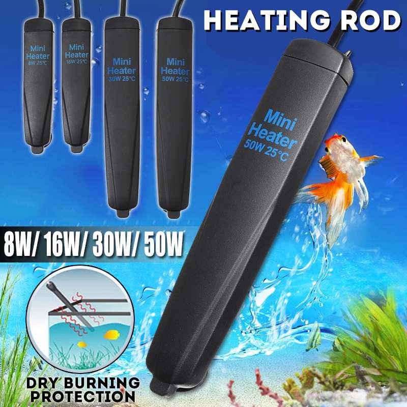 NEW Mini Heater Aquarium Heating Rods Fish Tank Shatterproof Constant Temperature Warmer Tools Submersible Turtle Heating Device