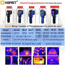XEAST thermique caméra image portable 2.4 pouces écran couleur viennent avec 8G SD carte humidité ambiante XE 26/XE 27/XE 28