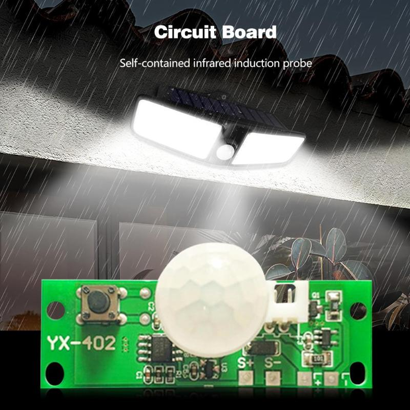 3.7V Solar Lamp Circuit Board Control Sensor Night Light Controller Module Infrared Induction Solar Panel Circuit Board