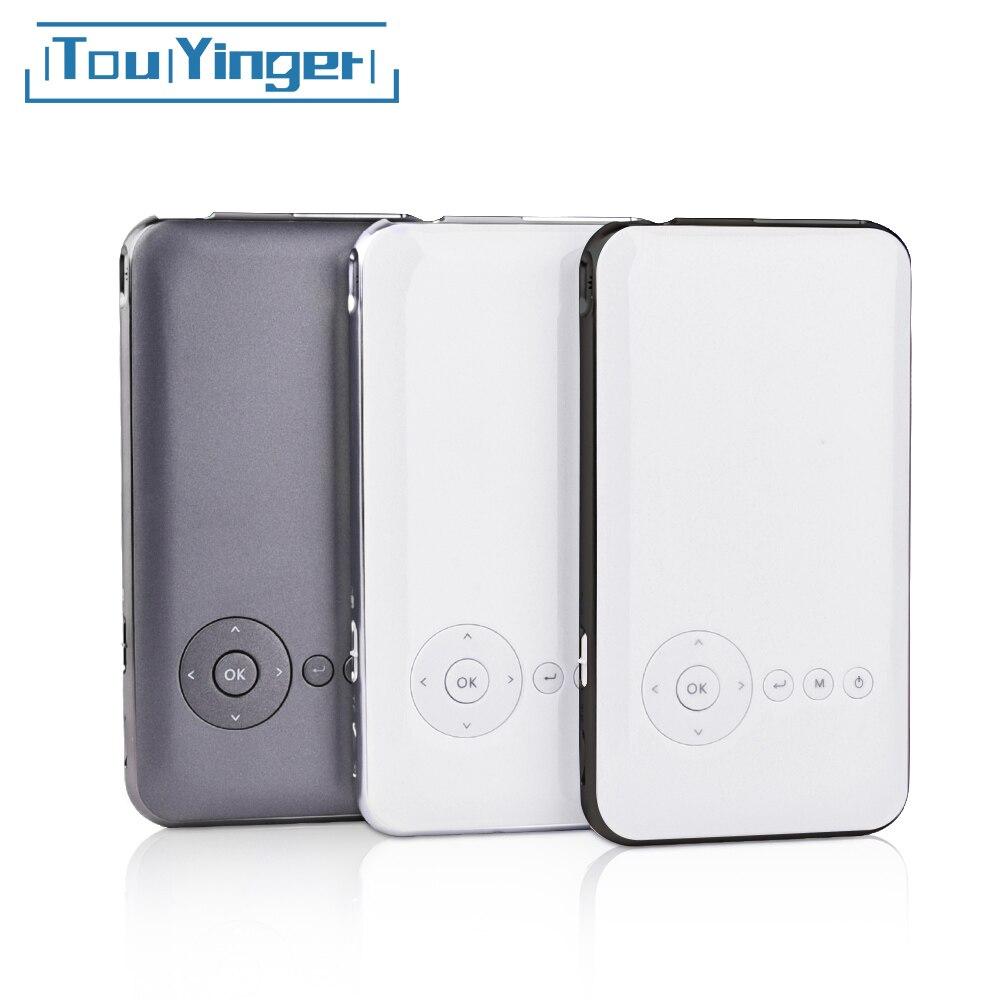Projecteur portatif portatif de téléphone intelligent de dlp wifi de Mini projecteur de poche de 5000mah Touyinger S6 plus Android AC3 Bluetooth