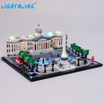 Lightaling Led Light Kit For Architecture Trafalgar Square Building Blocks Compatible With 21045 ( Lighting Set Only ) lightaling led light set for famous brand 10182 15002 make