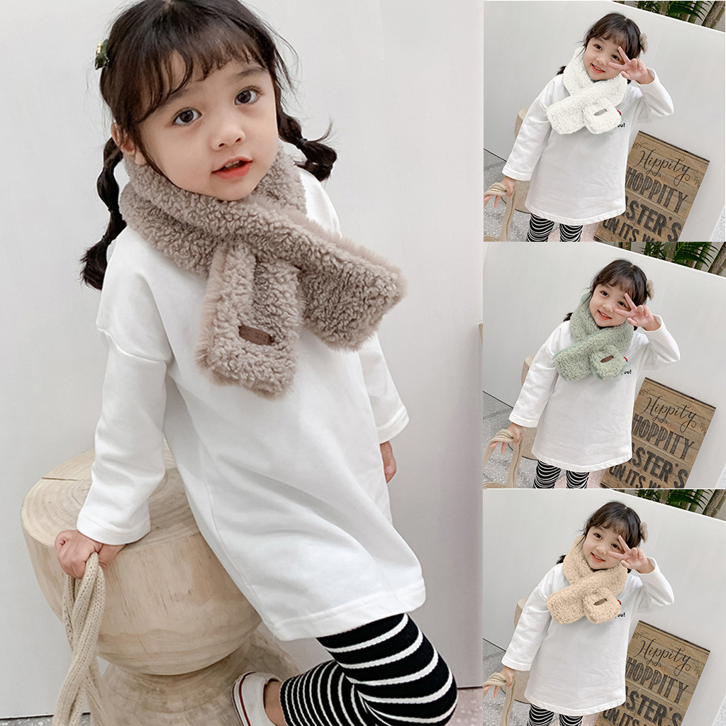 Scarf Baby Scarf шарф Children Fashion New Accessories Solid Color Scarves Neck Warmer Winter Warm Feeling Scarf Free Ship