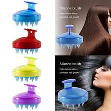 Silikon kafa vücut derisi masaj fırça tarak şampuan saç yıkama tarağı duş fırçası banyo Spa zayıflama masaj fırça Styling aracı