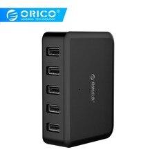 ORICO 5 портов 8A 40 Вт высокоскоростное настольное умное зарядное устройство для iPhone 5 6 7 Galaxy S7 Xiaomi Mi 5 htc 10 Ipad Телефон samsung зарядное устройство