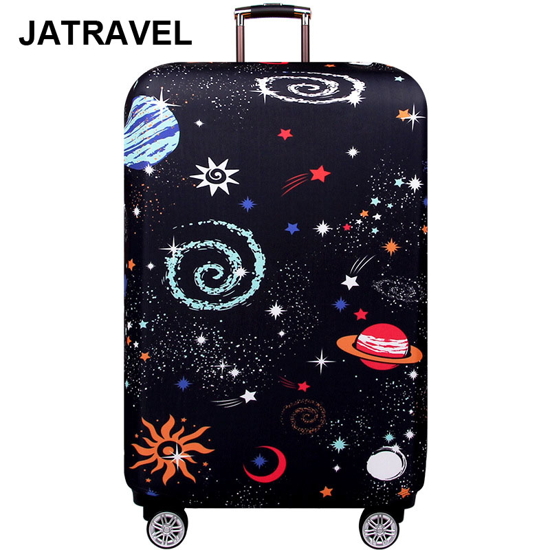 JATRAVEL Elastic Luggage Cover Thicker Universe Suitcase Protective Cover Fit 18-32 Suitcase Cases Travel Accessories