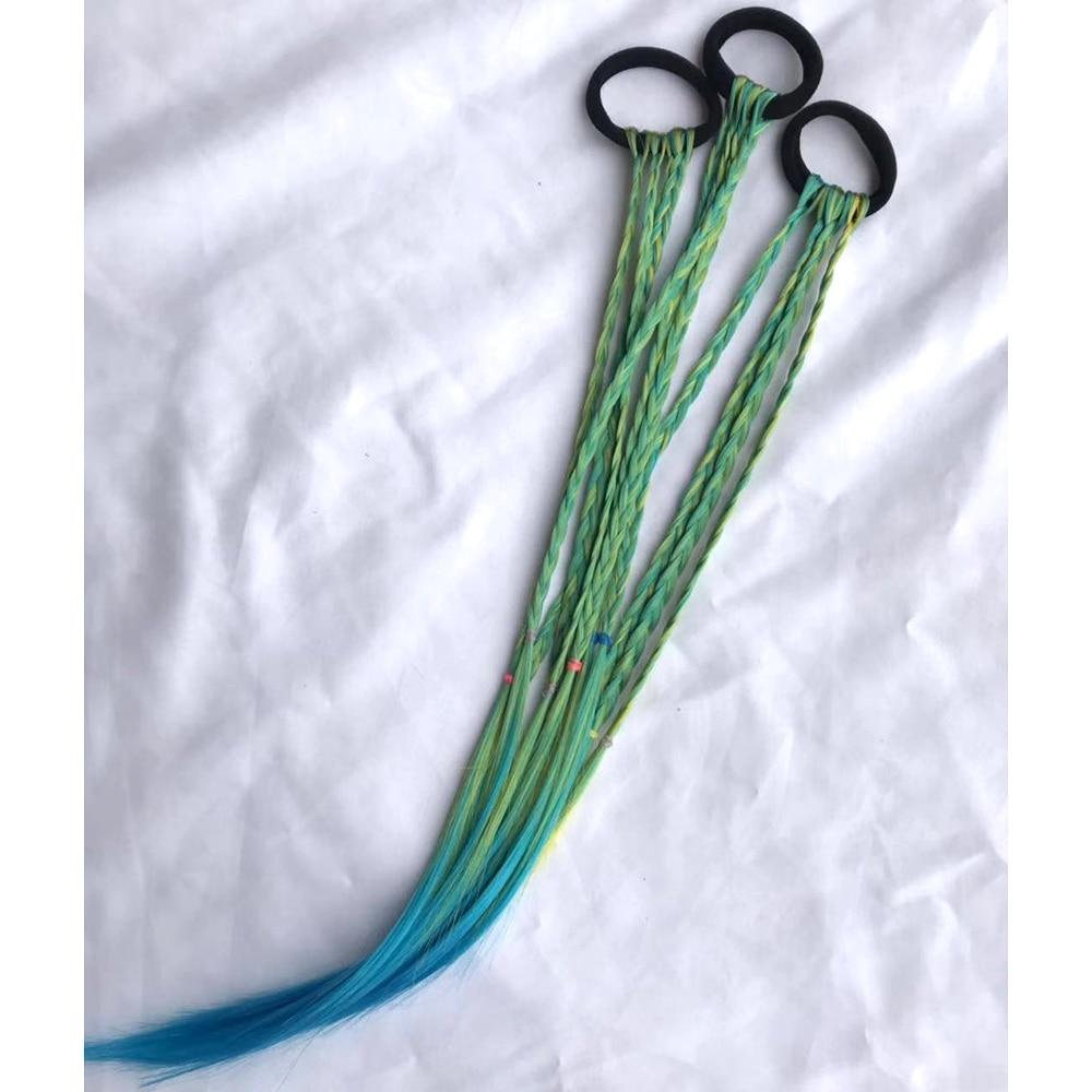 Simple Kid Elastic Hair Band Rubber Band Hair Accessories Kids Wig Headband Girls Twist Braid Rope Headdress Child Gift Band