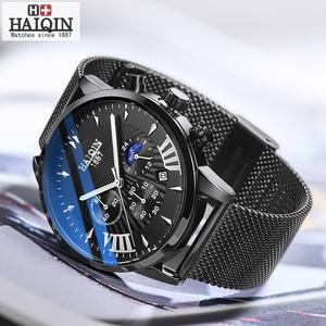 Image 4 - Haiqin 2019 relógios masculinos, moda mecânica homens relógios top marca de luxo esporte relógio de pulso homens à prova d água relógio de quartzo masculino