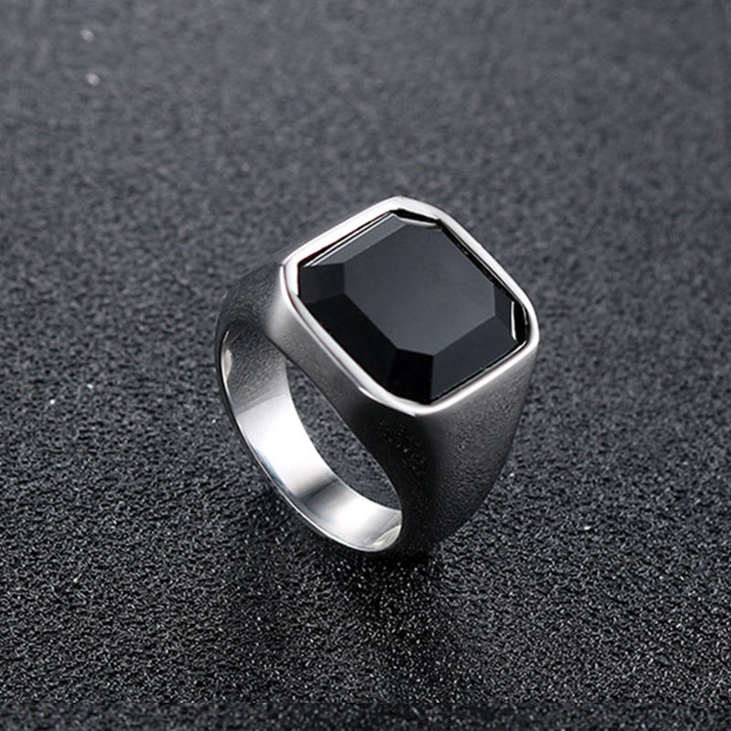 stainless steel silver rings for men Cool punk <font><b>wholesale</b></font> <font><b>lots</b></font> <font><b>bulk</b></font> signet ring black antique rings silver 2020 fashion jewelry image